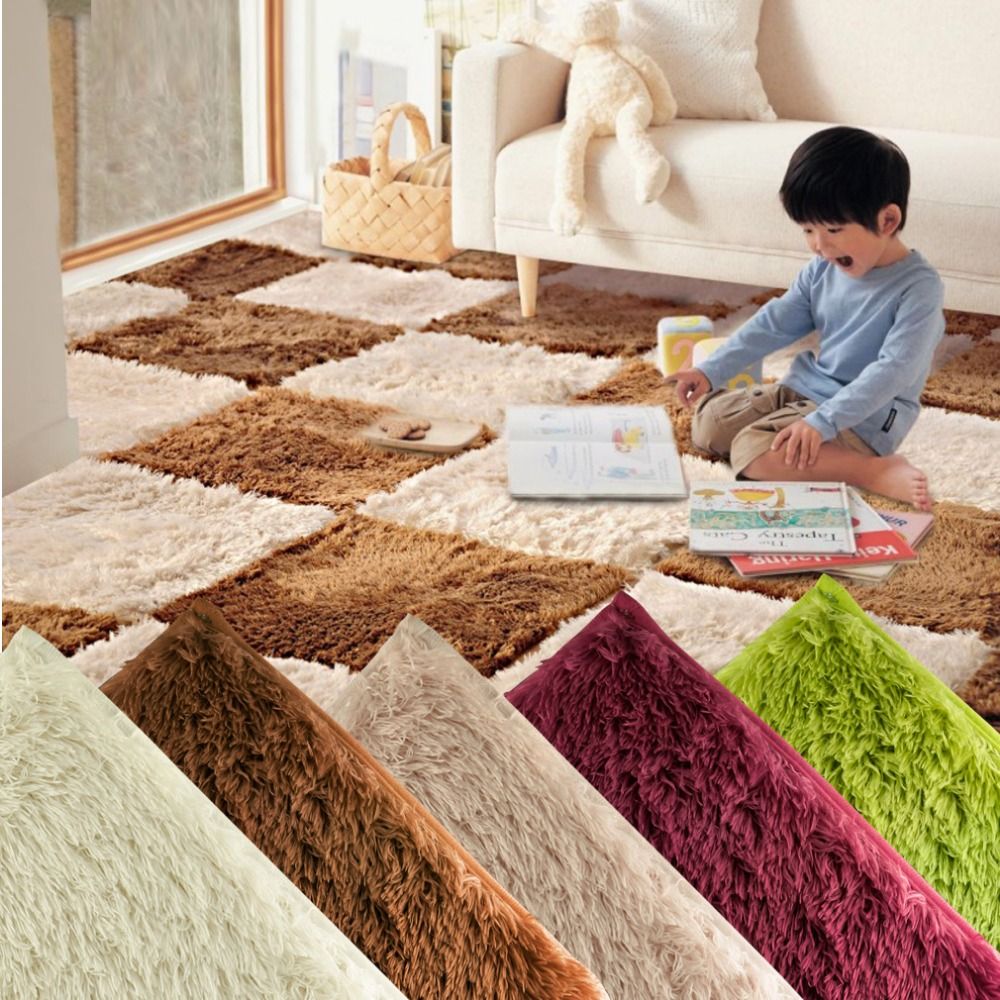 Buy Super Soft Anti Skid Fluffy Rugs Shaggy Area Rug Living Room Home  Carpet Floor Mat Solid Color Loop Carpet From Reliable Rug Suppliers.