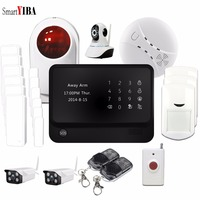 SmartYIBA WI FI GPRS Alarmas де Seguridad Para Casa дома Anti охранной IOS/Android APP Управление IP Камера паника сигнал тревоги Наборы