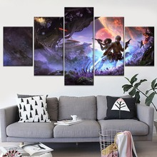 Star Wars Luke Skywalker R2 D2 Scifi Painting 3 Piece Modular Style Picture Canvas Print Type Home Decor Wall Artwork Poster