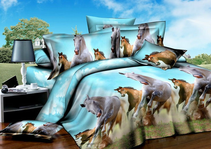 Horse Bedding Set Queen Size Full Bedspreads Duvet Cover