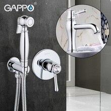 Gappo Cristal Baño bidé baño grifo bidé pulverizador bidet Latón ducha set de montaje en pared de baño grifo de la ducha con GA1097