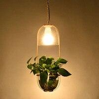 Nordic Minimalist Creative Personality Plant Chandelier For Home Courtyard Corridor Terrace Villa Bedside Restaurant E27