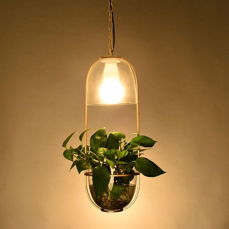 Здесь продается  Nordic Minimalist  Creative Personality  Plant Chandelier for Home Courtyard  Corridor Terrace Villa Bedside Restaurant E27  Свет и освещение