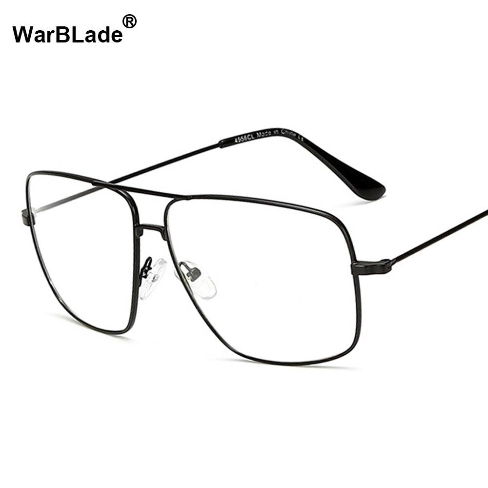 2018 Fashion Brillen Männer Frauen Marke Designer Platz Brillen Rahmen Klar Optische Myopie Brillen Oculos De Grau Warblade