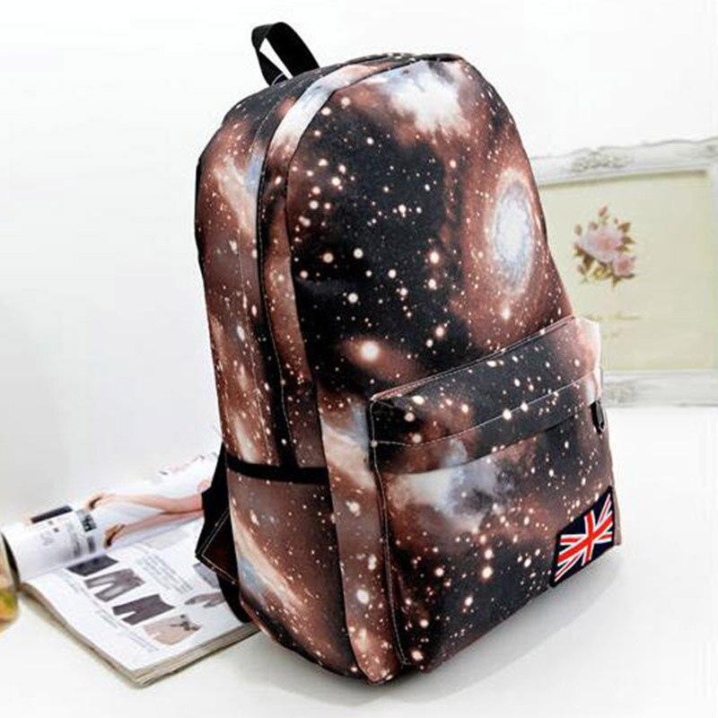 Casual Backpacks Shoulder-Bag Fashion Women Zipper Starry-Sky Printing Korean