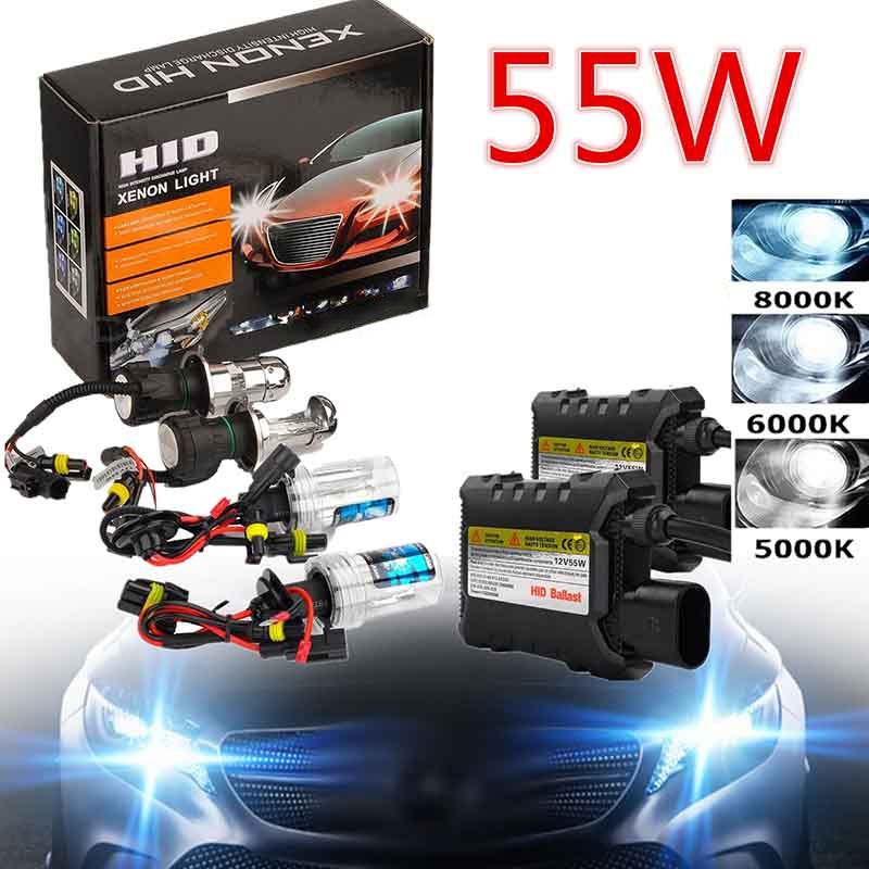 Mayitr 1 Set Xenon Hid Conversion Kit 55W H7 Lamp With Silm Ballast 5000K Single Beam For Car Headlight Car Styling