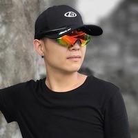 New Fashion Unisex Mountaineering Hat With Polarized Sunglasses Sports Cap Sunshade UV multi color Hiking Caps