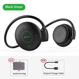 Image 1 - Picun T6 אוזן וו אלחוטי Bluetooth אוזניות ספורט עמיד למים אוזניות MP3 הפחתת רעש אוזניות תמיכת TF כרטיס