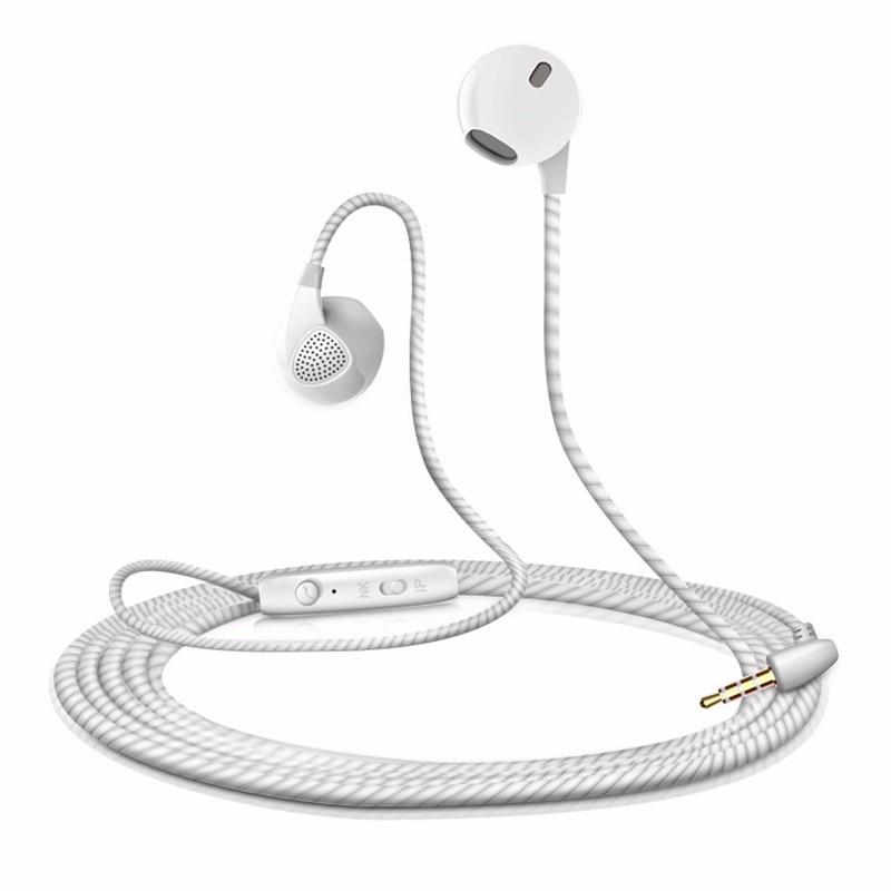Hot sale Phone Earphones Half In-ear Earphone with Microphone for Huawei Honor 4C Pro fone de ouvido langsdom r9c in ear earphone for phone stereo hifi earphones with microphone headset for phone fone de ouvido earbuds