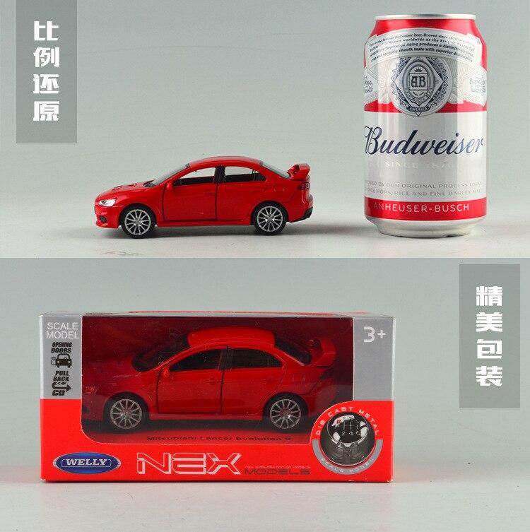 Фирменная Новинка Welly 1/36 Весы Японии Mitsubishi Lancer Evo литья под давлением Металл отступить Модель автомобиля игрушки для подарка/Дети/ коллекция