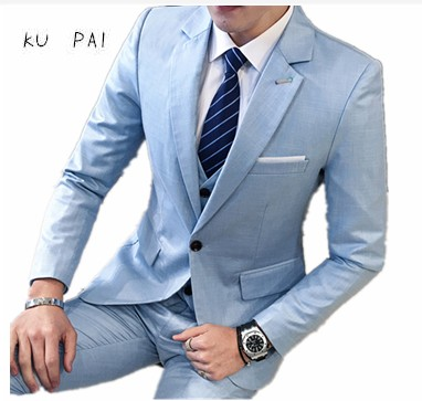 2017new mens Blazer Slim business casual sky blue non-iron four seasons wedding dress men business small leather large size S-5