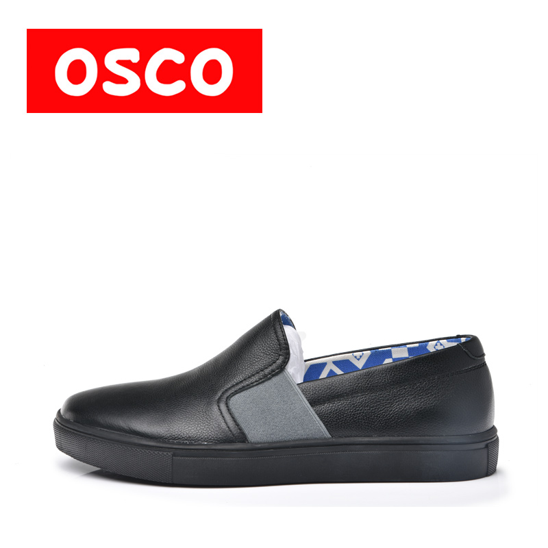 OSCO Factory Direct ALL SEASON New Styles Men Cow leather Shoes And Casual Canvas Fashion Men Loafers Casual Shoes#RU0011