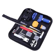 147pcs Metal Watch adjustment Repair Tool Kit Set Band Case Opener Watch Link Pin Spring Bar Remover Watchmaker Tools