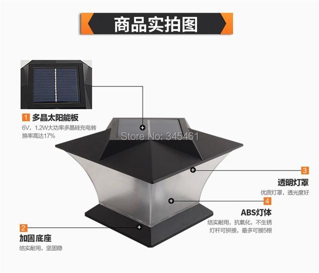 2XUltra Bright 7″ Solar Post cap Light with18pcs leds Solar Pillar Light Fence Mount Outdoor Solar Garden Fence Lamp