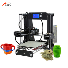 Anet A6 22*22*25cm Print Size Impressora 3d 40-120mm/s Printing Size Single Color Reprap Prusa i3 Digital 1.75mm PLA 3d Printer