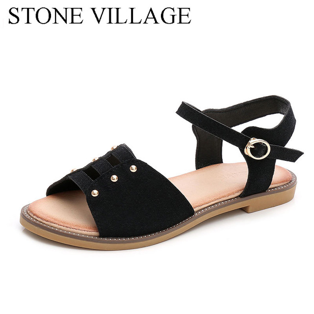 6ee091f210c6e2 Special Clearance 2018 Summer New Korean Version Rome Grind Fine Belt Buckle  Packs And Heels Women S