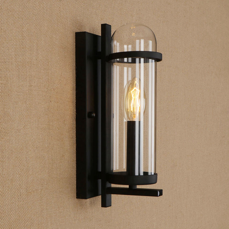 все цены на LED Iron wall lamp modern glass lampshade wall light for living room bedroom hallway restaurant bar caffe E14 110v 240v онлайн