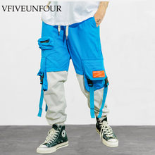 купить VFIVEUNFOUR Harajuku 2019 Color Block Patchwork Male Trousers Mens Womens Casual Jogger Pencil Pants Streetwear Sweatpants по цене 1952.88 рублей