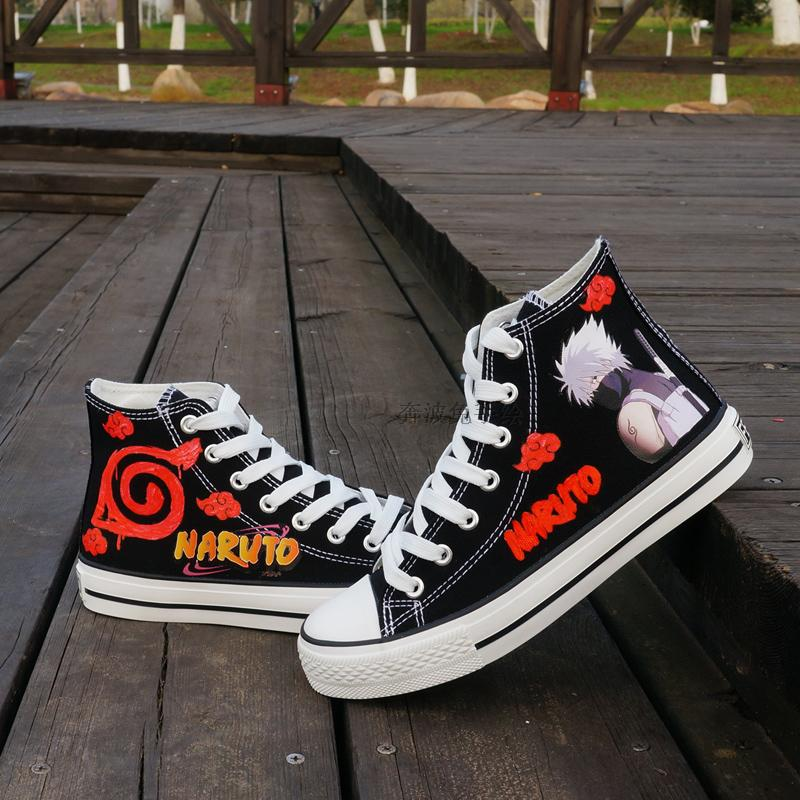 Anime Naruto Canvas Shoes Hatake Kakashi Cosplay Shoes For Adult Women Men Boots