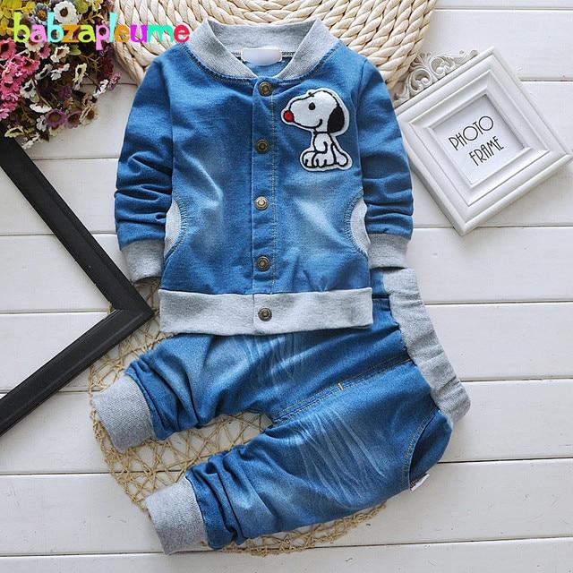 Boys&GirlsToddler Clothing Set Tops+Pant 2pcs Children Suit Kids Denim Clothes Baby Outfit Spring Autumn infant Tracksuit BC1278