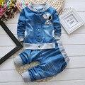 Niños y Ropa Set Tops + Pant 2 unids GirlsToddler Juego de Los Niños Niños Denim Ropa de Bebé Outfit Primavera Otoño infantil chándal BC1278