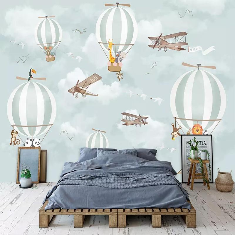 Photo Wallpaper 3D Cartoon Balloon Murals Children's Room Eco-Friendly Background Wall Painting Boys Kids Bedroom Wall Paper 3 D