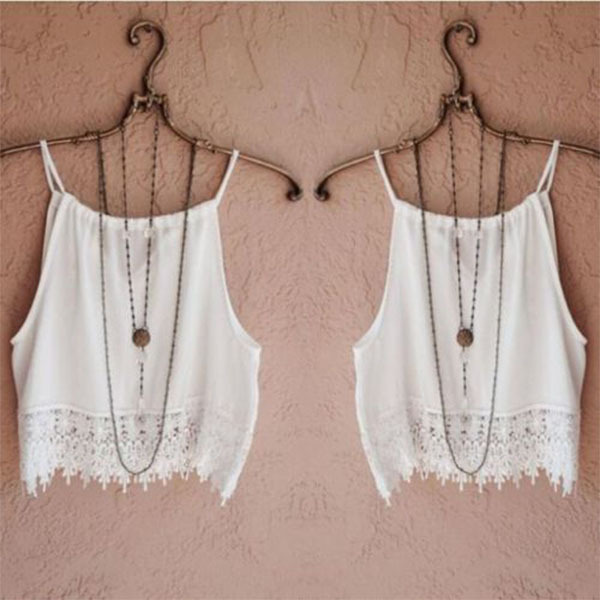 White Ladies Girl Summer Vest Tops Spaghetti Strap Loose Casual Tank Tops S  XL-in Camis from Women s Clothing on Aliexpress.com  c6b9d85153