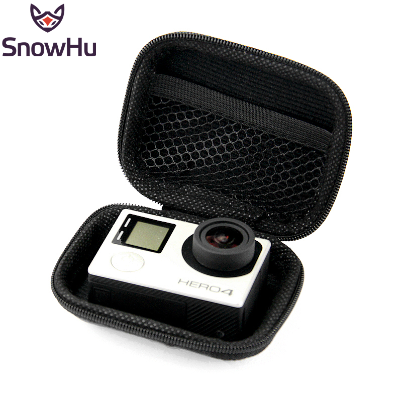 SnowHu Portable Mini Box EVA Black Camera Bag Case For Gopro Hero 4 3 Xiaomi Yi