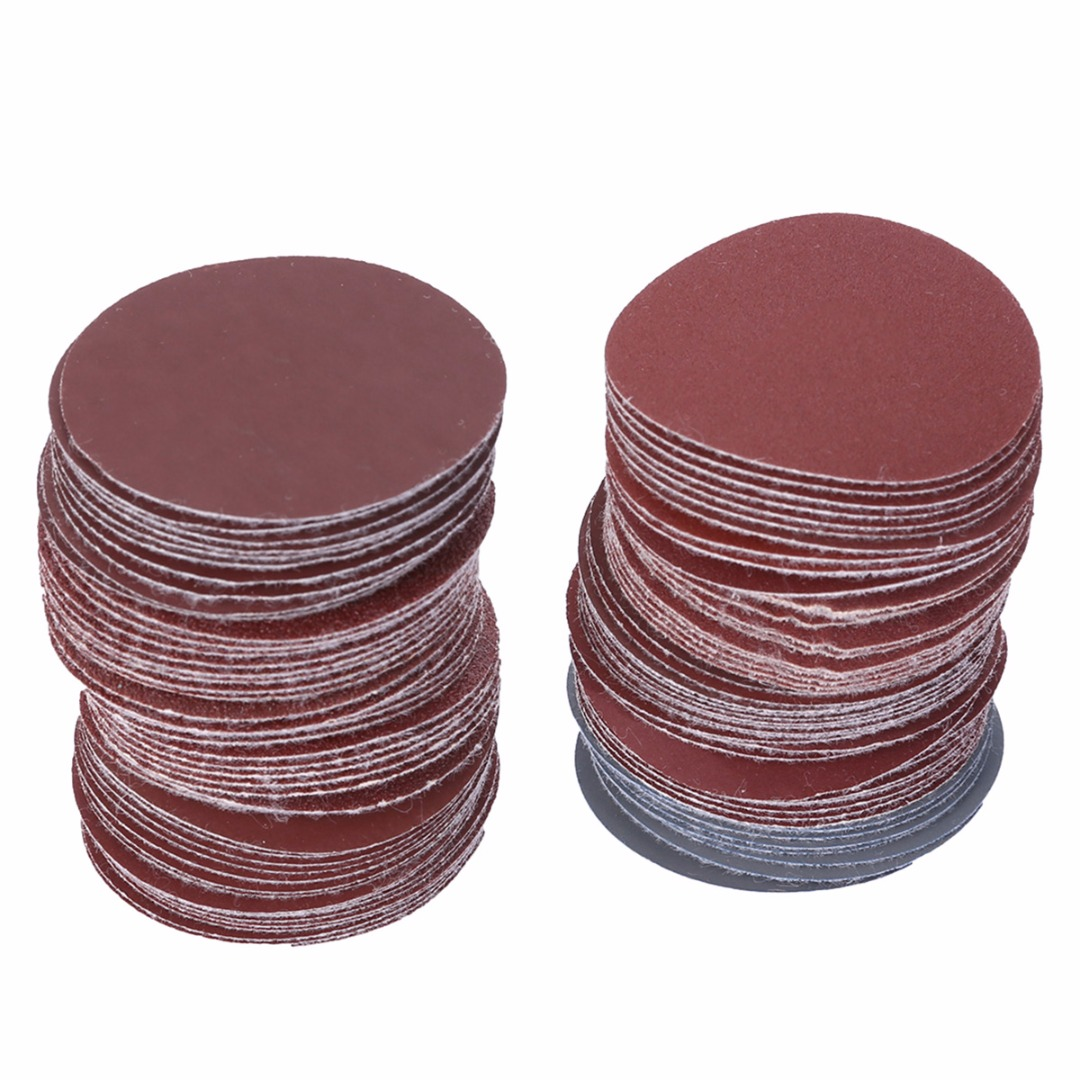 100pcs 50mm 2inch Sanding Discs Round Polishing Pad Sheets Grinding Sandpaper AbrasiveTool