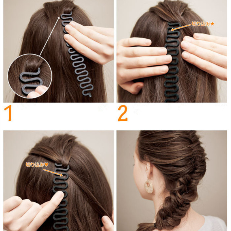 2017 Fashion Hair Styling New Salon Tools Useful Centipede Braid Device Nice Women Hair Accessories 5 Colors