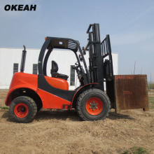 Two-Wheel Drive Rough Terrain Lift Truck All-terrain forklift Construction Site Special Handling Equipment
