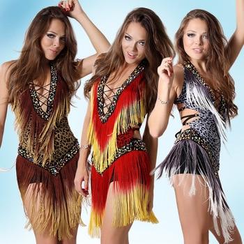 2016 Sexy A Buon Mercato Donne Del Vestito Da Ballo Latino Professionale del Pannello Esterno Latino Samba Ballo Latino Salsa Abiti