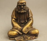 9 Китайский буддизм медный сиденье видных монах Дхарма Бодхидхарма Дамо статуя