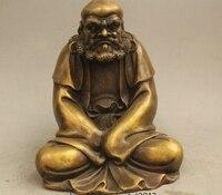 9 Chinese Buddhism Copper Seat Eminent monk Dharma Bodhidharma Damo Statue
