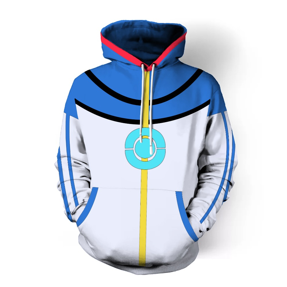 Free shipping woman and man's POKEMON GO Poke Ball printed cosplay hoodie wear JQ-2617