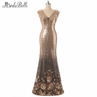 Modabelle Silver Gold Bridesmaid Dresses Long Party Gown With Sequins Robe Demoiselle D Honneur Party Wedding