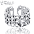 YA YIN YOU PIN S925Pure Silver Ring Complex Flowers Luxury Gifts Exclusive Luxury Light Professional Silver Shop Factory Outlets