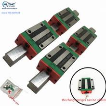 25mm 2 pces china trilho linear hgr25 1200mm 2500mm e 4 pces hgh25ca ou hgw25cc guia linear trilhos bloco para peças cnc