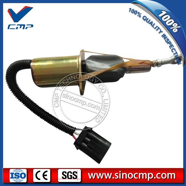 CMP 24v excavator fuel stop shutdown shutoff flameout solenoid 4063712 cmp stop solenoid valve 3935650 for cummins excavator