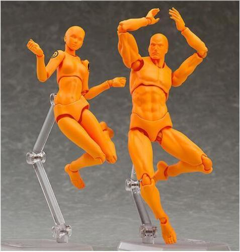2pcs/set  2.0 Young Version CHAN & Kun Joint Body Figure Orange He She Action Figure Model Toys Children Gift Collection shfiguarts pvc body kun body chan body chan body kun grey color ver black action figure collectible model toy
