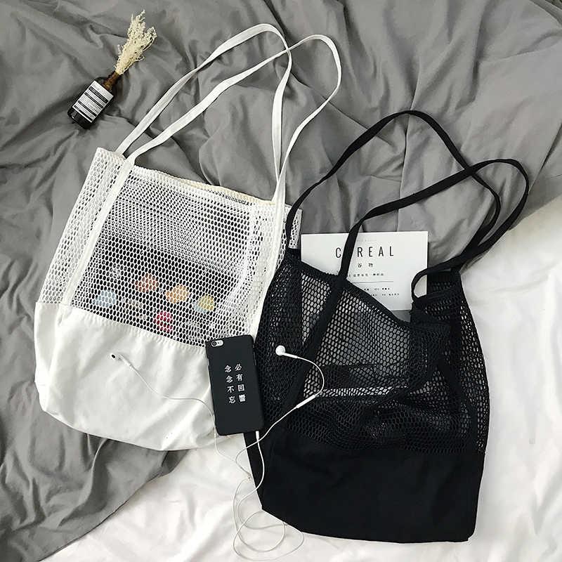 51f871cf7822 Fruit Shopping Bag Storage ultra reusable grocery bags Tote Canvas Net  Fabric Bag Bolsa compra plegable