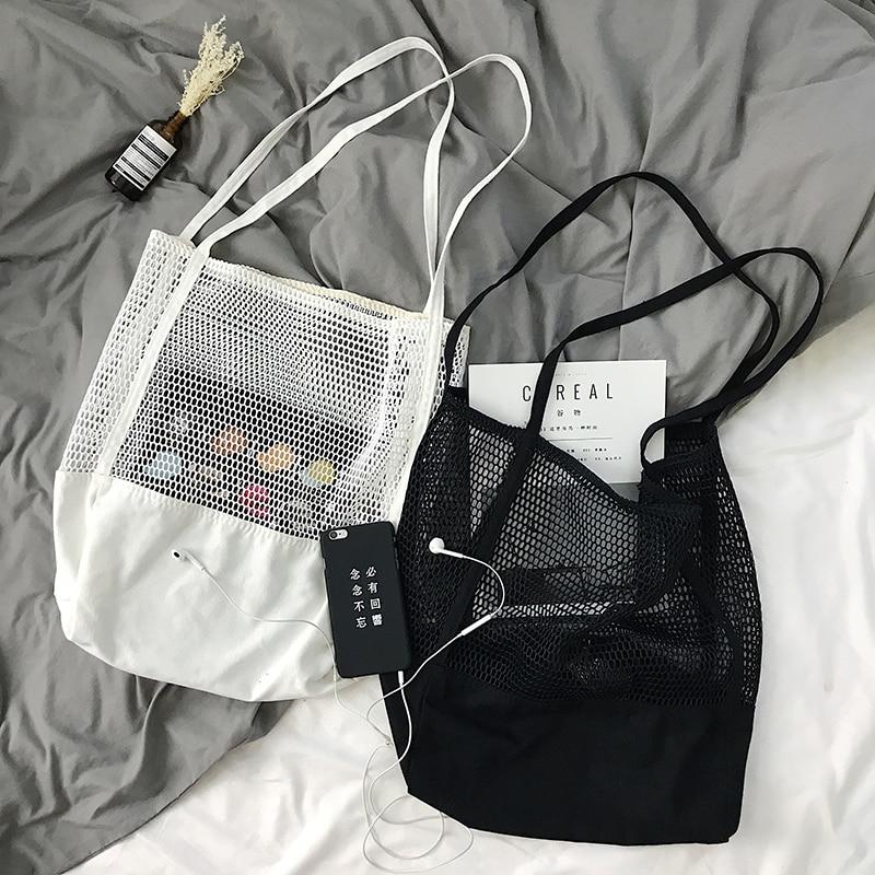Fruta de compras Bolsa de almacenamiento ultra reutilizables bolsas Tote de lona de tela de Bolsa compra plegable