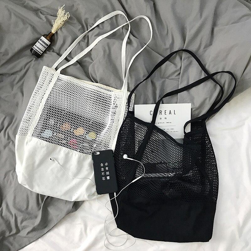 Obst Einkaufstasche Lagerung ultra wiederverwendbare taschen Tote Leinwand Net Stoff Tasche Bolsa compra plegable
