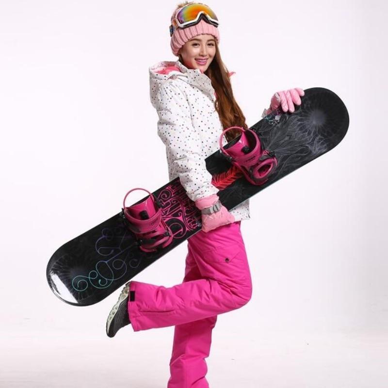 2018 Ski Jacket Women Winter Snow Waterproof Windbreaker Snowboard Thicken Warm Outdoor Sportswear Spot Printed Hooded Girl Coat недорого