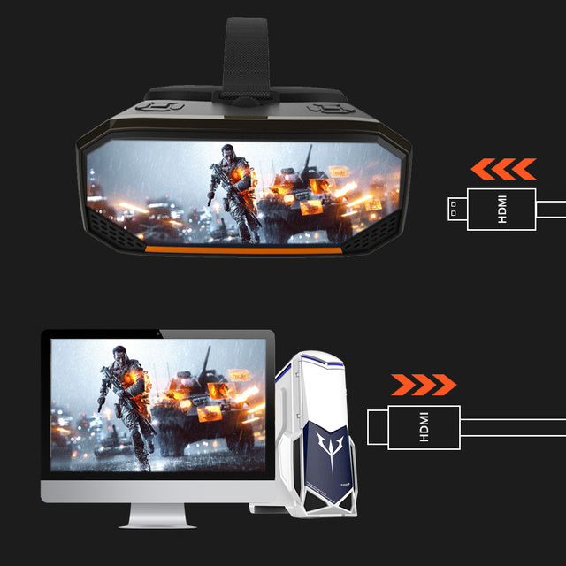 Sovawin H3 All in One VR Headset 3D Smart Glasses Virtual Reality Goggles VR Helmet 2K WIFI HDMI Video  with Controller 4