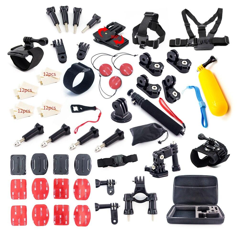 Pour GoPro hero 7 6 5 4 Xiaomi Yi mijia 4 k Accessoires Kit Auto Bâton Trépied Mont Go pro Session SJCAM Action Sport Caméra Ensemble