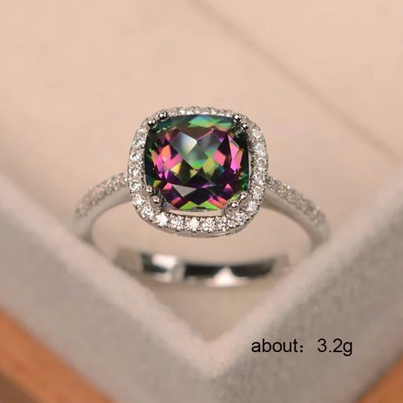 Ring silver 925 jewellery Zircon ring copper plated diamond ringen Stainless steel treasure B2393 B2394