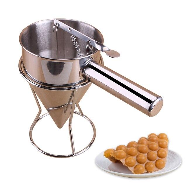 Distributeur de pâte à crêpes parfait pour la cuisson de petits gâteaux gaufres, gâteaux toutes les marchandises de boulangerie fabricant de cuisson avec étiquette de mesure