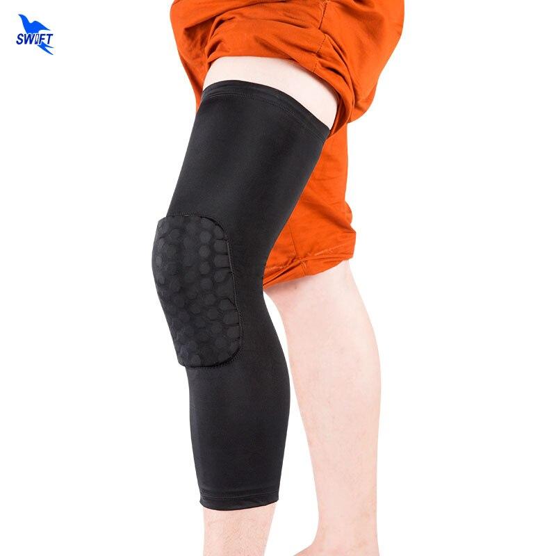 2pcs/lot Basketball Leg Knee Protector Short Sleeve For Kids Adult Honeycomb Pad Anti-slip Band Gear Crashproof Knee Pad Support