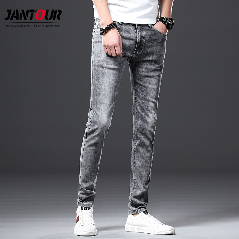 Jantour Brand 2019 New Summer Spring   Jeans   Men Brand Clothing Side Denim   Jeans   Men Fashion Quality Stretch Pants   Jeans   Male
